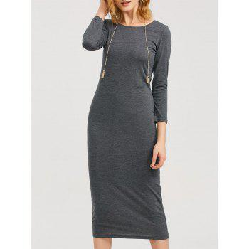 Tea Length Fitted Sheath Dress