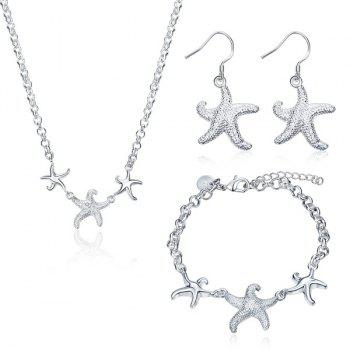Starfish Necklace Drop Earrings and Bracelet
