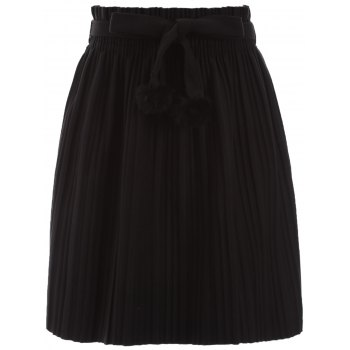 Pleated Mini Skirt with Belt