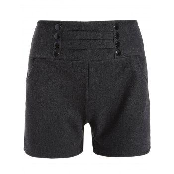 High Waist Studded Winter Shorts