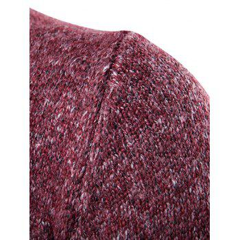 Knit Blends Roll Neck Long Sleeve Sweater - WINE RED M