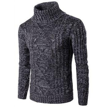 Knit Blends Roll Neck Kink Design Long Sleeve Sweater