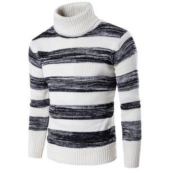 Knit Blends Roll Neck Ombre Stripe Sweater