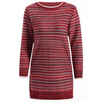 Striped Pullover Long Sweater