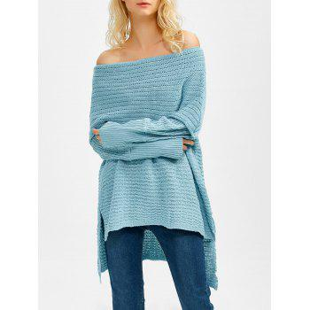 Off The Shoulder Asymmetrical Sweater