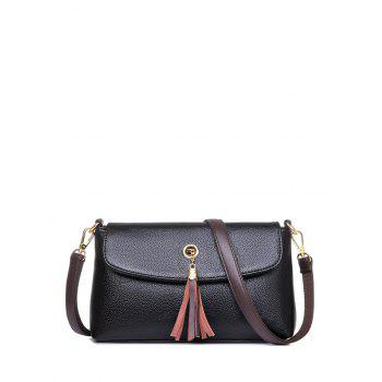 PU Leather Tassel Eyelet Shoulder Bag