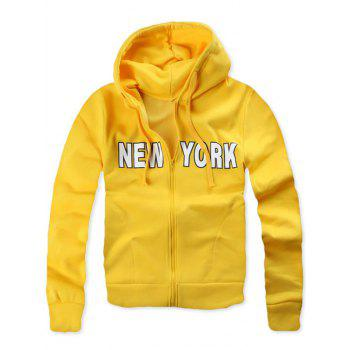 New York Pocket Zip Up Hoodie
