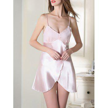 Satin Slip Lace Panel Sleep Dress
