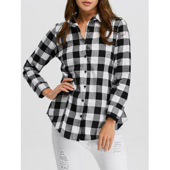 Button Up Plaid Flannel Shirt