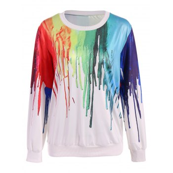 Splatter Paint Oversized Sweatshirt