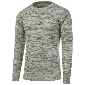Space Dye Crew Neck Pullover Sweater