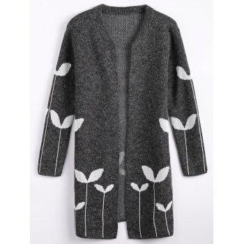 Graphic Open Cute Plus Size Cardigan