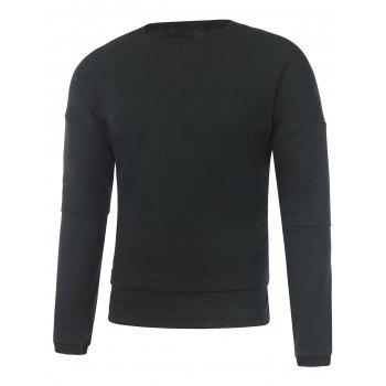 Crew Neck Drop Shoulder Plain Sweatshirt