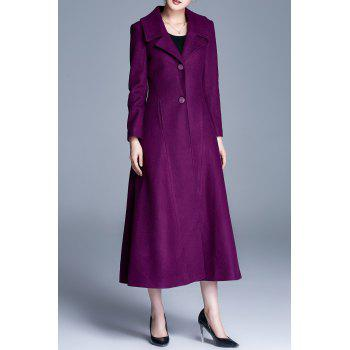 Single Breasted A Line Maxi Coat