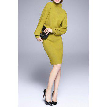 Mock Neck Sweater With Skirt