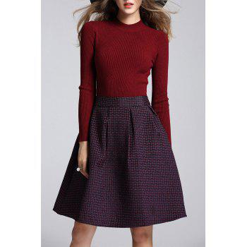 High Neck Sweater and A Line Skirt