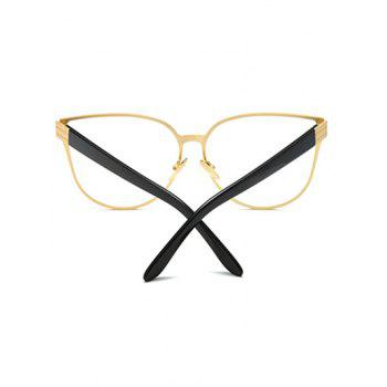 Full Rims Oversized Butterfly Sunglasses - GOLDEN