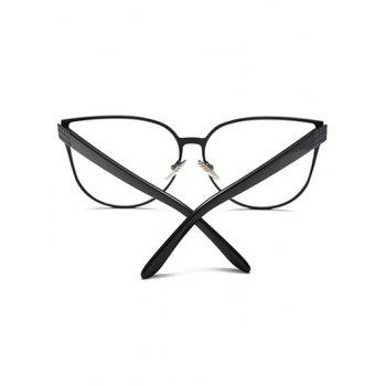 Full Rims Oversized Butterfly Sunglasses - BLACK