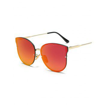 Full Rims Metal Mirrored Cat Eye Sunglasses