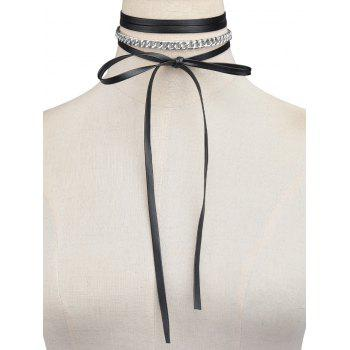 Layered Chain Bowknot Tie Necklace