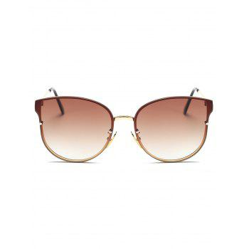Full Rims Metal Butterfly Sunglasses - TEA COLORED
