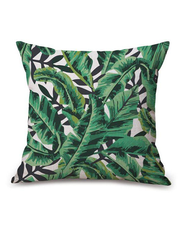 Leaf Printed Sofa Seat Cushion Linen Pillow Case handpainted pineapple and fern printed pillow case