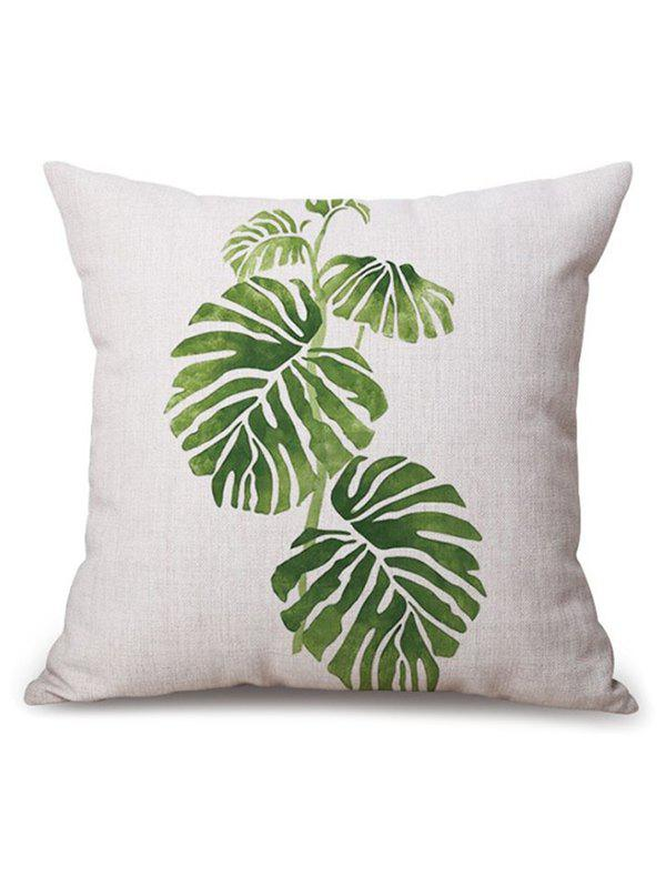 Leaf Printed Linen Sofa Seat Cushion Pillow Case handpainted pineapple and fern printed pillow case
