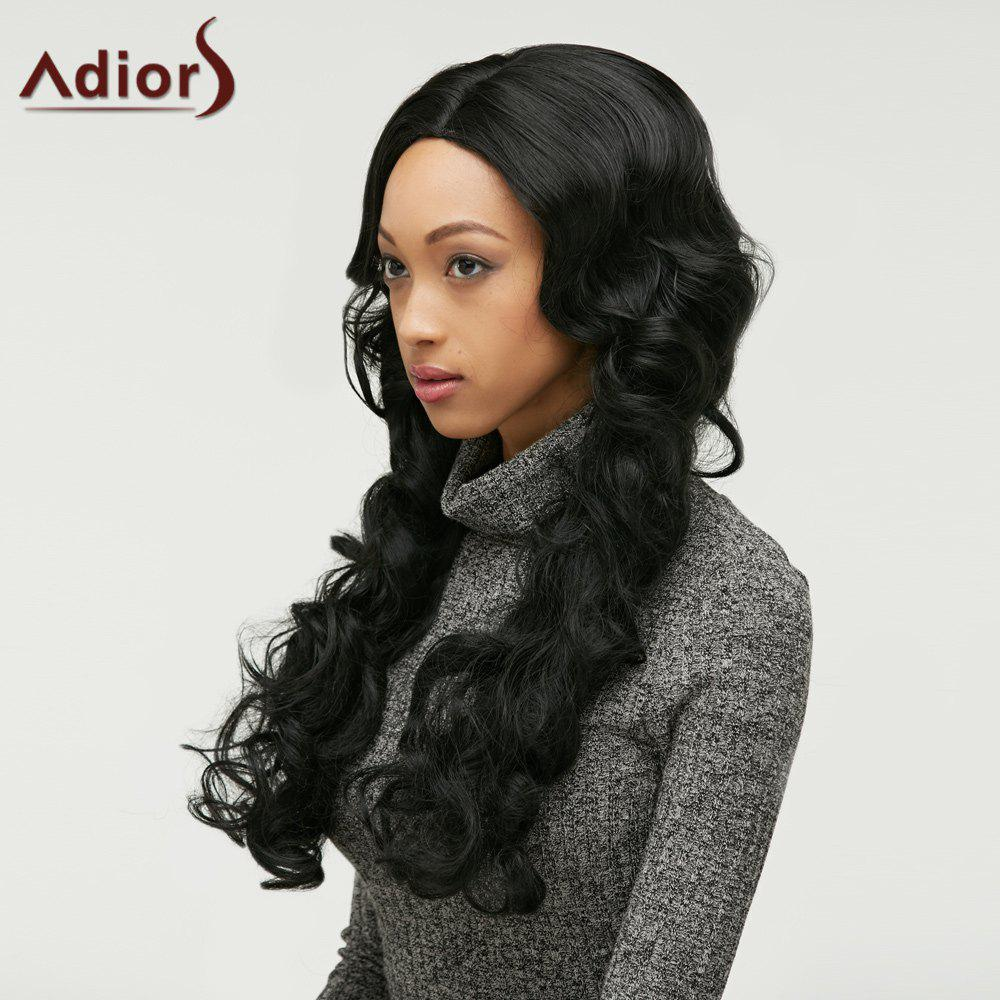 Adiors Centre Parting Fluffy Wavy Long Synthetic Wig centre speaker