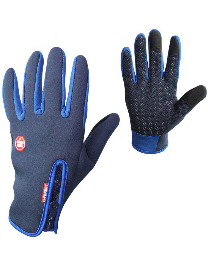 Full Finger Bicycle Sport Skidproof Cycling Gloves - BLUE M