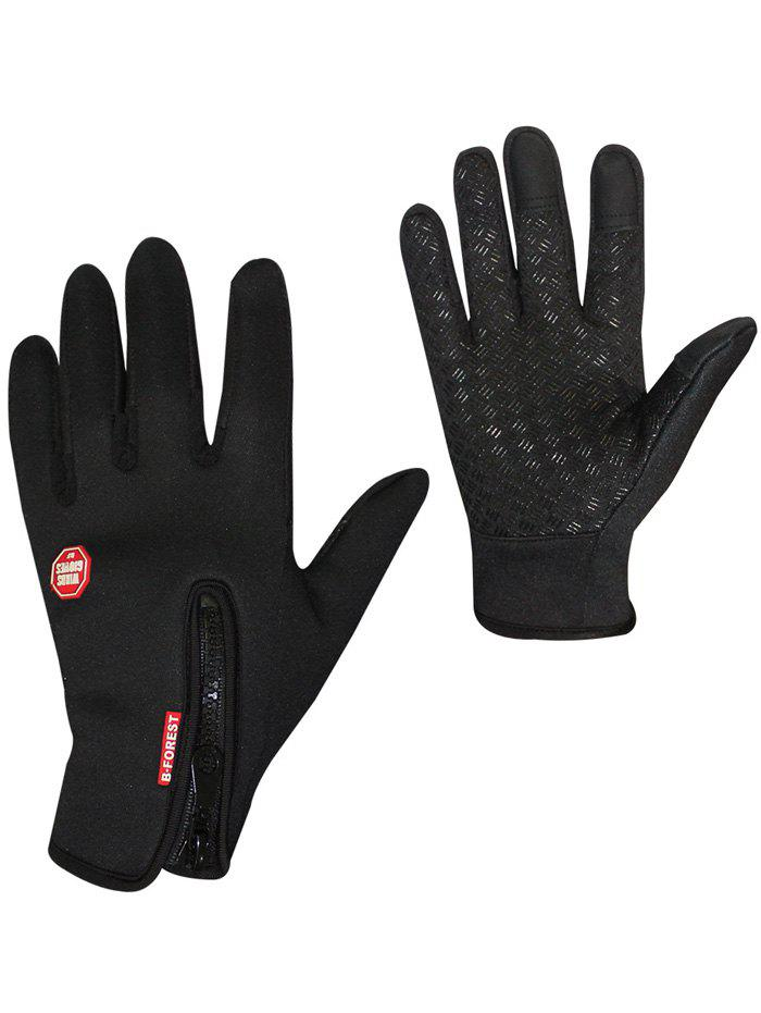 Full Finger Bicycle Sport Skidproof Cycling Gloves - BLACK XL