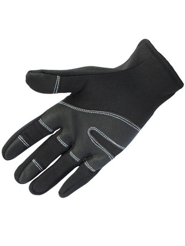 Outdoor Full Finger Touch Screen Skidproof Cycling Gloves - BLACK M