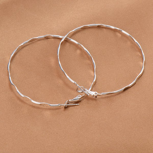 Uneven Big Circle Earrings - SILVER