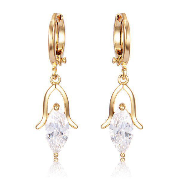 Droplight Faux Crystal Earrings - WHITE