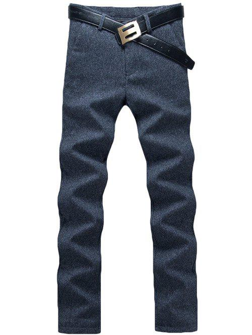 Zipper Fly Straight Leg Heather Pants