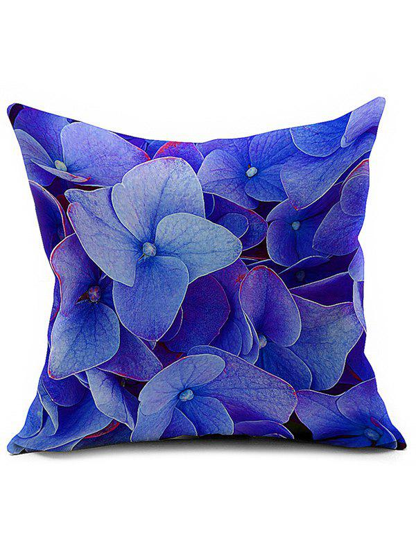 Linen Floral Printed Car Seat Cushion Pillow Cover - BLUE