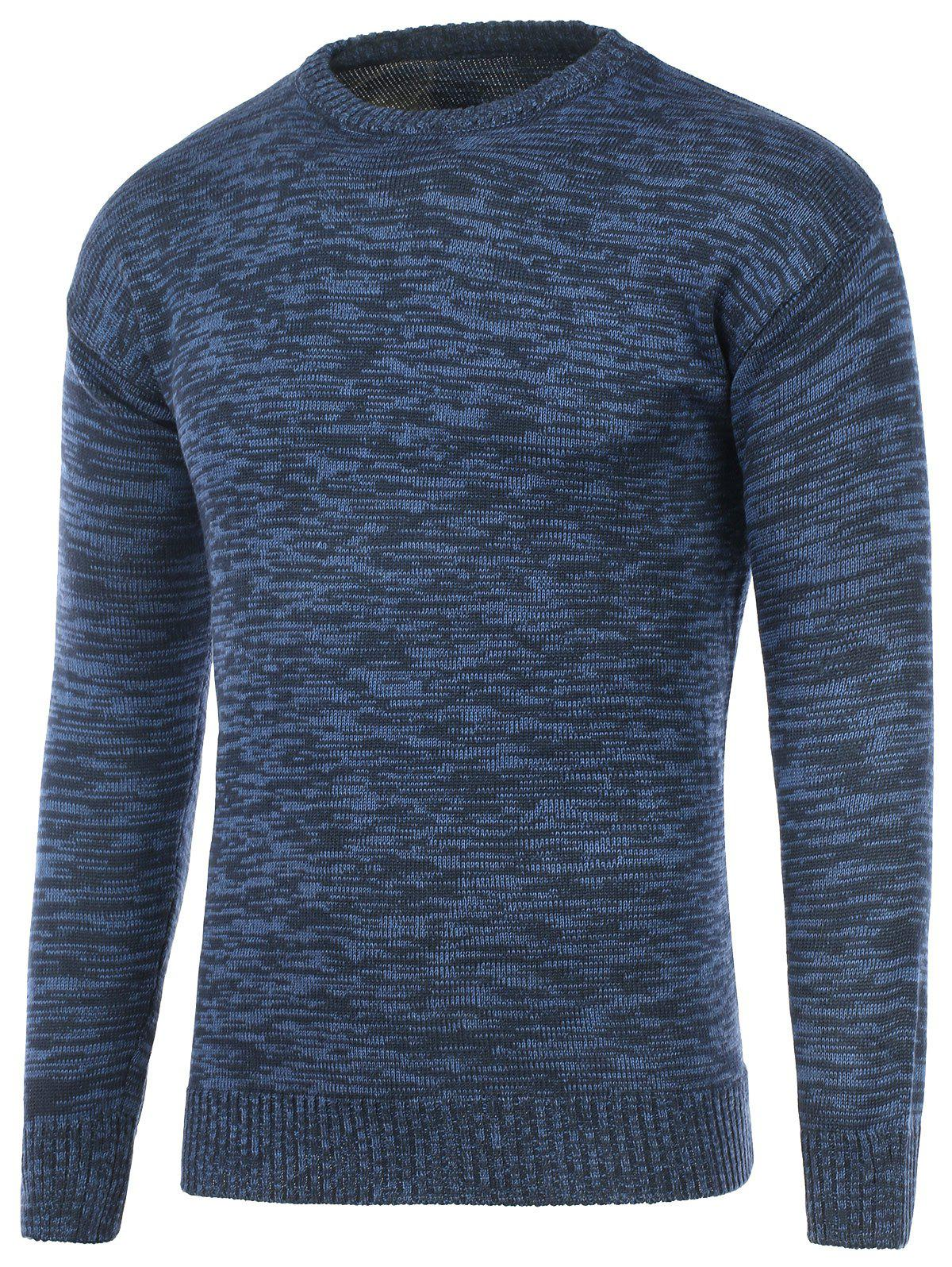 Space Dye Crew Neck Pullover Sweater slim fit crew neck space dye sweater