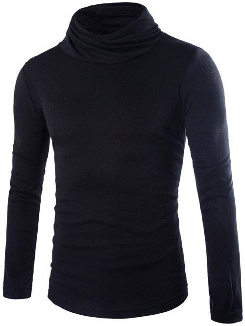 Slim Fit Pullover High Neck Knitwear high neck fit