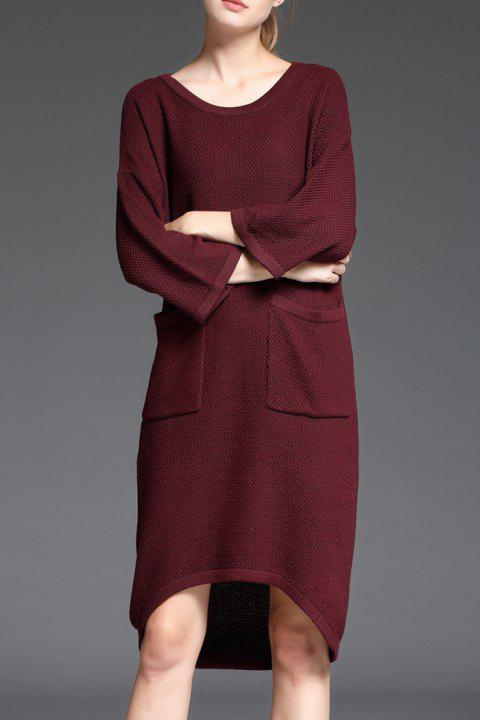 Robe-Pull haut bas avec poches - Clairet ONE SIZE