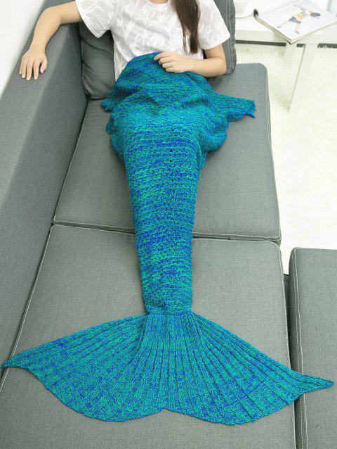 Crocheting Mermaid Blanket Throw - BLUE GREEN