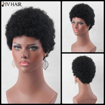 Fluffy Ultrashort Curly Real Natural Hair Wig