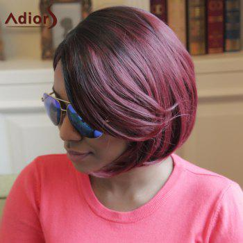 Adiors Highlight Short Straight Side Parting Bob Synthetic Wig - COLORMIX