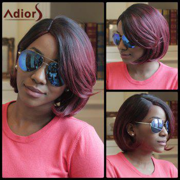 Adiors Highlight Short Straight Side Parting Bob Synthetic Wig