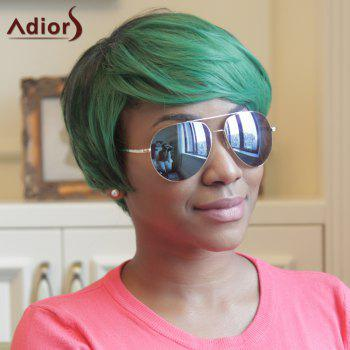 Adiors Side Bang Fluffy Straight Mixed Color Short Synthetic Wig - COLORMIX
