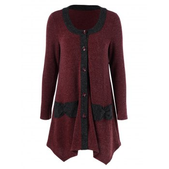 Button Up Asymmetrical Cardigan
