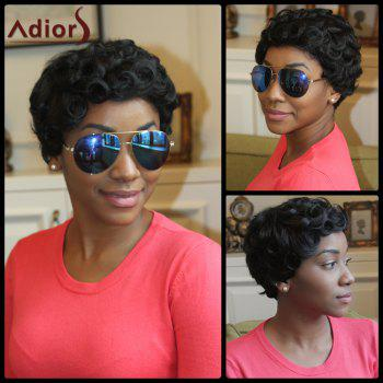 Adiors Short Pixie Cut Fluffy Curly Synthetic Wig
