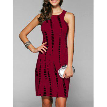 Sleeveless Cut Out Short Sheath Dress