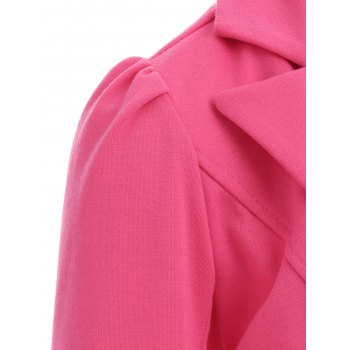 Lapel Button Up Blazer - TUTTI FRUTTI S