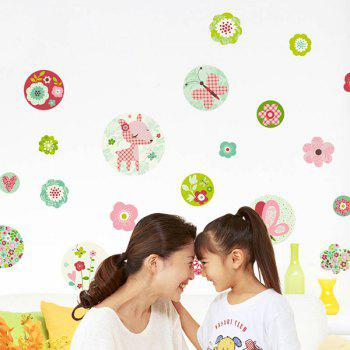DIY Floral Removable Living Room Wall Stickers