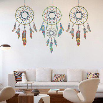 Removable Feather Aeolian Bell Home Decor Wall Stickers