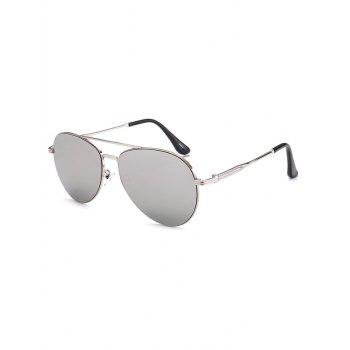 Crossbar Anti UV Metal Pilot Mirrored Sunglasses